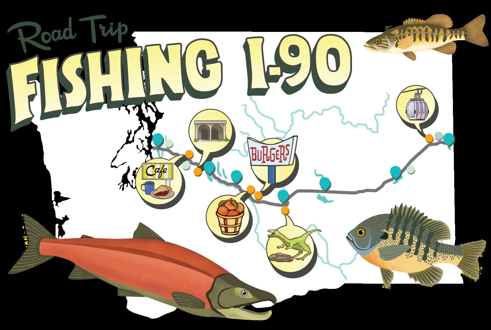Fishing i 90 for Plenty of fish spokane