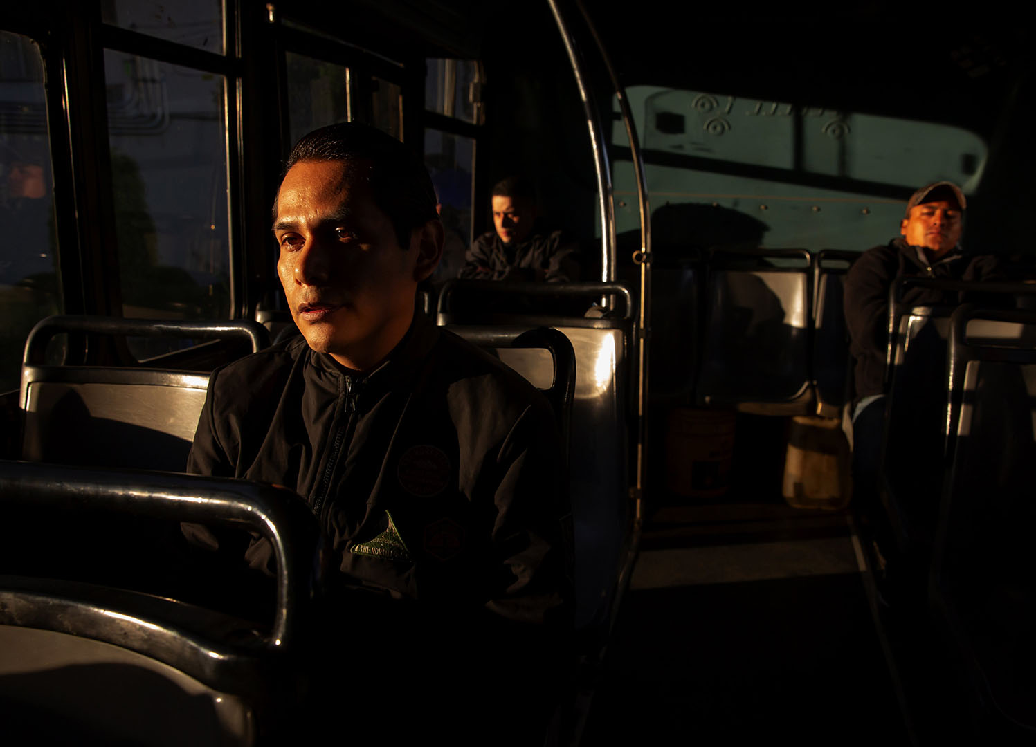Orlando Mendoza travels by bus to attend classes at Hola Code, a software bootcamp in Mexico City, Mexico.
